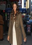 Camila Alves Leaving The Lamb Club Restaurant in New York - January 2014
