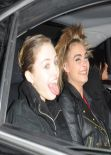Cara Delevingne and Michelle Rodriguez Leaving Chanel Fashion Show in Paris, January 2014