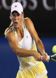 Caroline Wozniacki - Australian Open in Melbourne, January 16, 2014