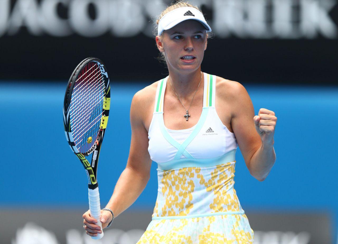 Caroline Wozniacki Australian Open January 18 2014