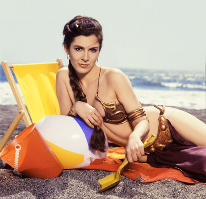Carrie Fisher in Golden Bikini - ROLLING STONE Magazine - Summer 1983