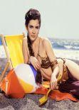 Carrie Fisher in Golden Bikini - ROLLING STONE Magazine - Summer 1983