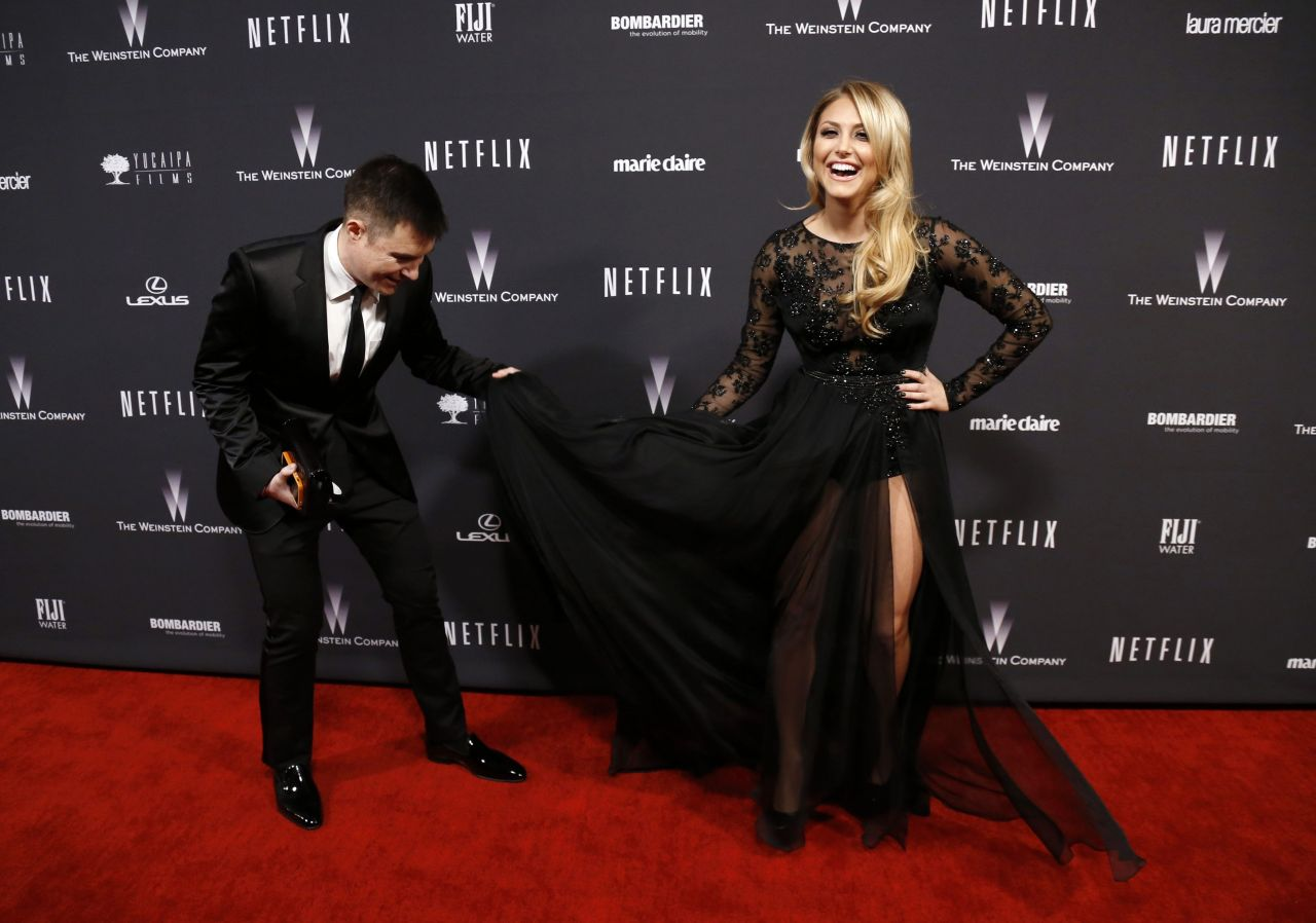 Cassie Scerbo - The Weinstein Company & Netflix 2014 Golden Globe After Party in Beverly Hills