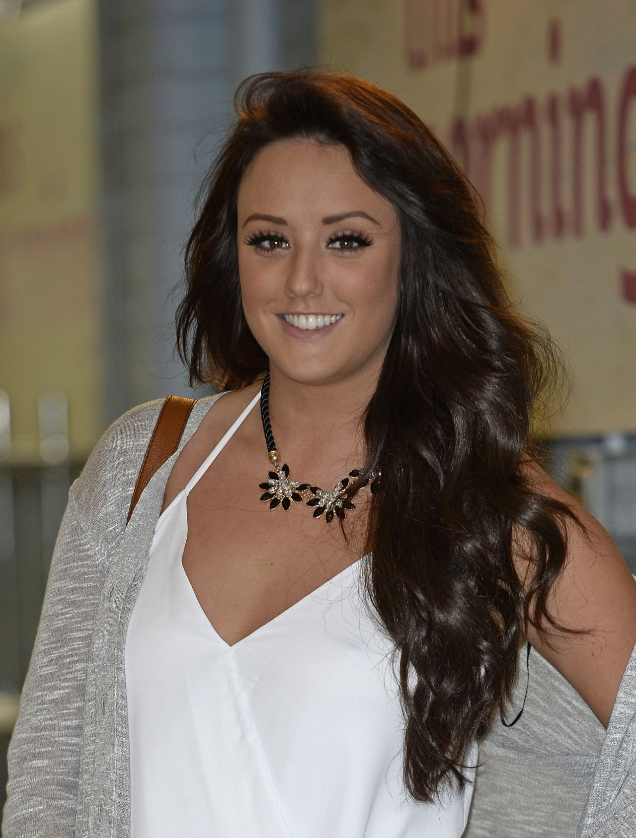 Charlotte Crosby at the London Studios - January 7 2014