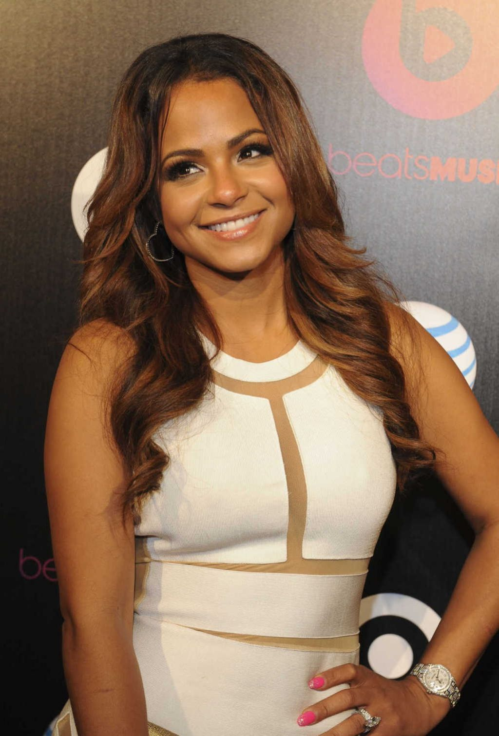 Christina Milian at Beats Music Launch Party in Los Angeles, January 2014