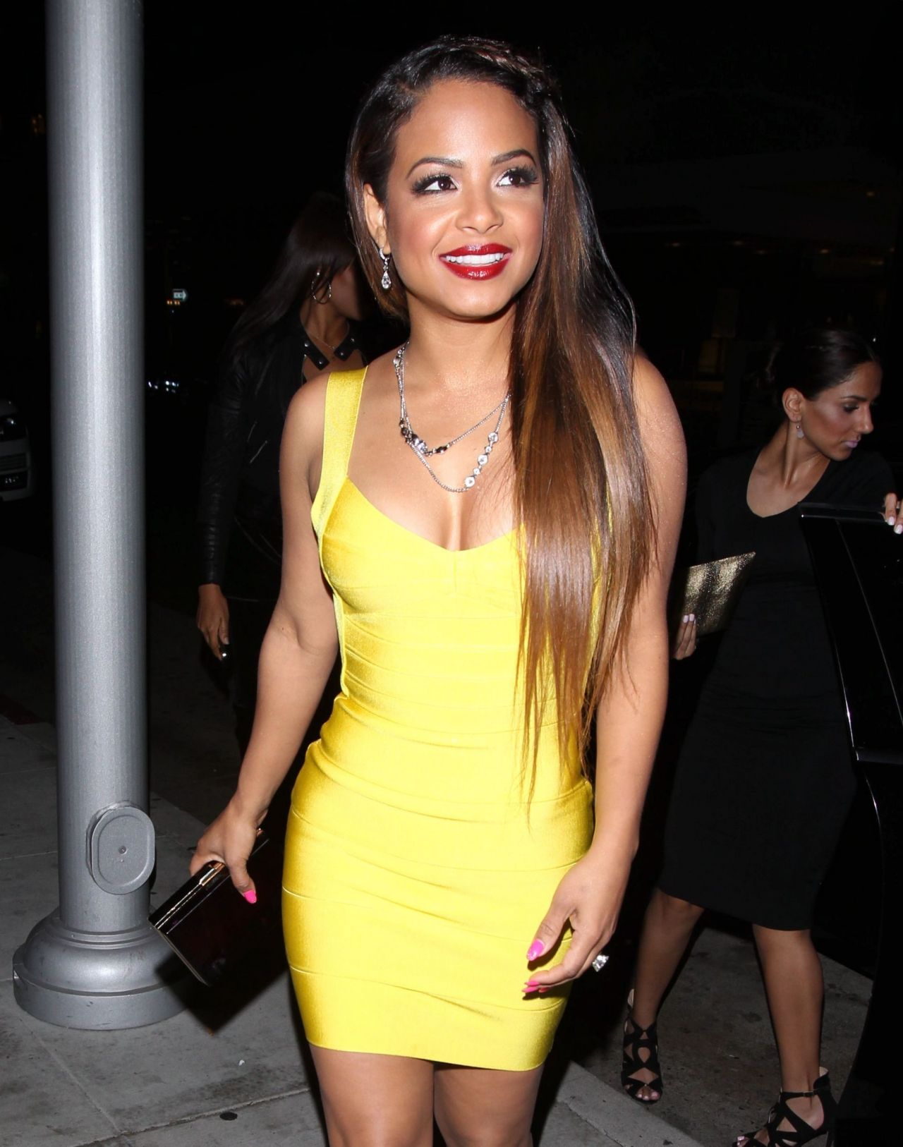 Christina Milian Nigh Out Style - post-Grammy Dinner at Mr.Chow in Beverly Hills