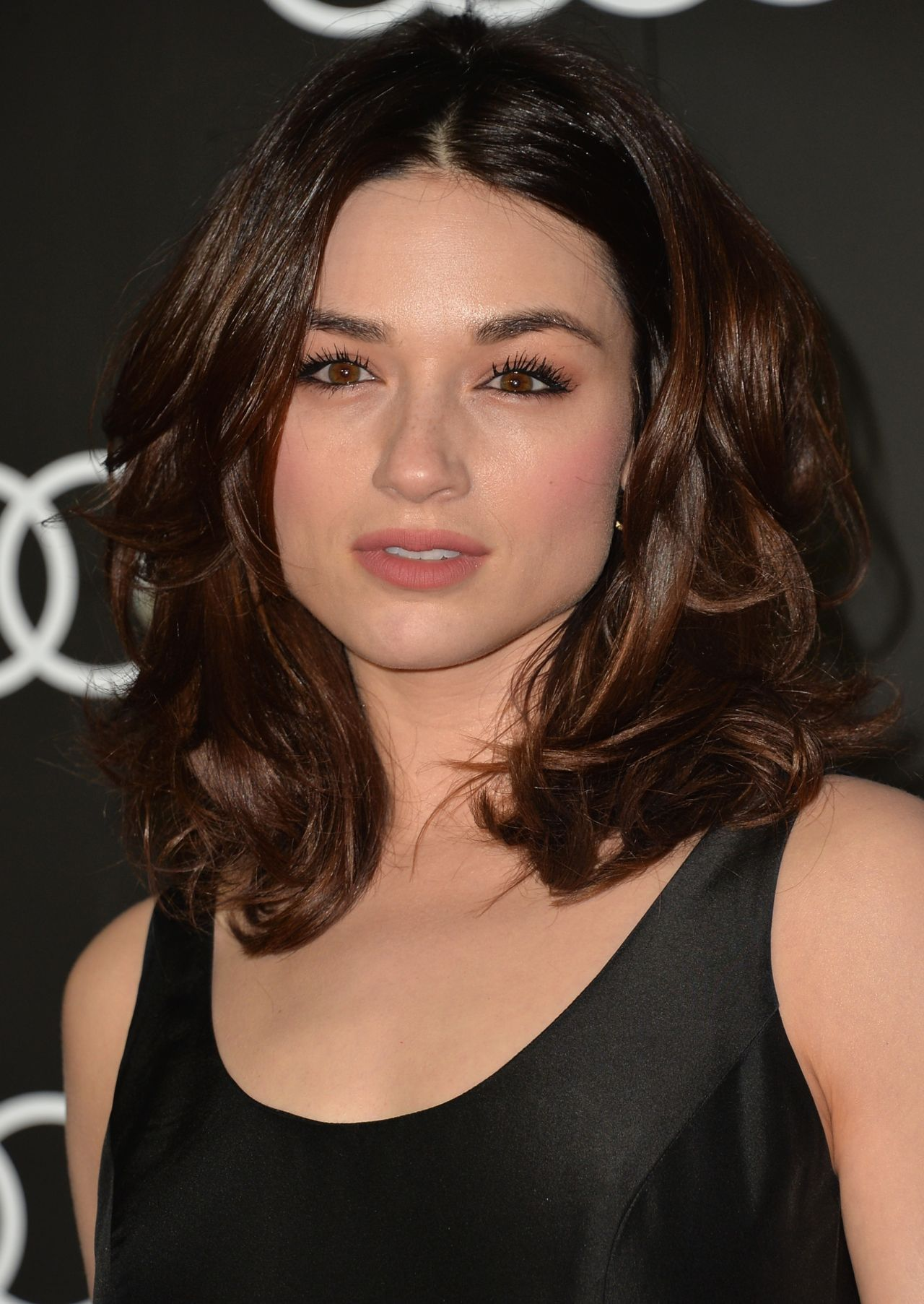 Crystal Reed On Red Carpet Audi Celebrates The Golden
