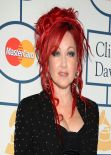 Cyndi Lauper at Pre-GRAMMY Gala in Los Angeles, January 2014