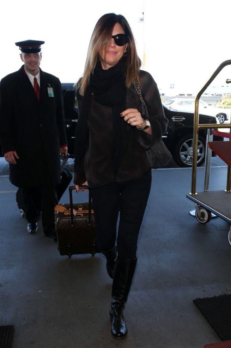 Daisy Fuentes Street Style - LAX, January 2014