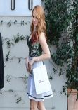 Debby Ryan - Leaving the Dior Luncheon in West Hollywood - January 2014