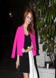 Debby Ryan Night Out Style - Leaving Chateau Marmont Restaurant in West Hollywood - Jan. 2014