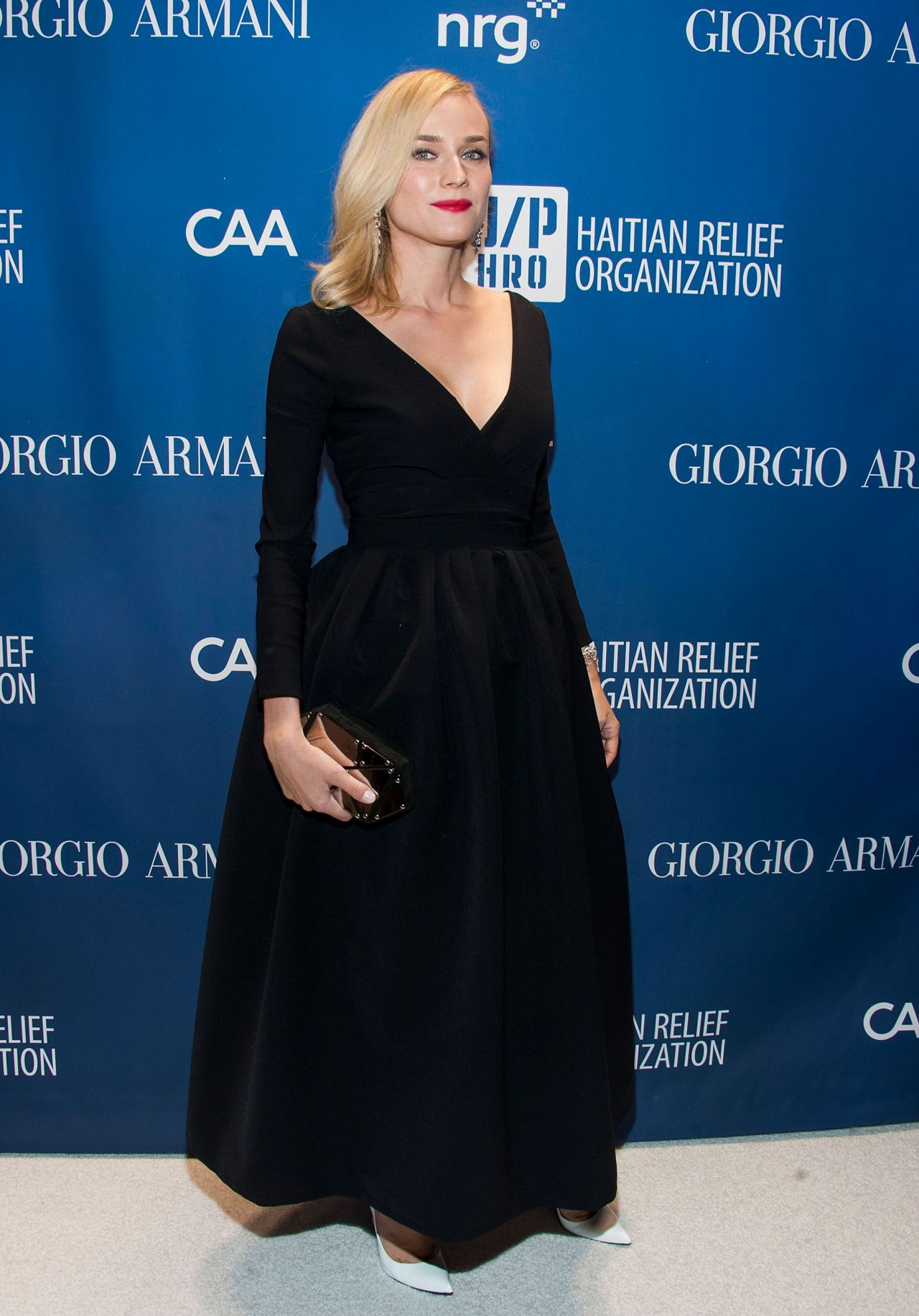 Diane Kruger Wears Preen at Sean Penn & Friends Help Haiti Home Gala, January 2014