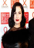 "Dita von Teese - Fashion Dinner for ""Sidaction"" at ""Pavillon d"