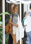 Doutzen Kroes Street Style - Leaving Her Hotel in Miami - January 2014