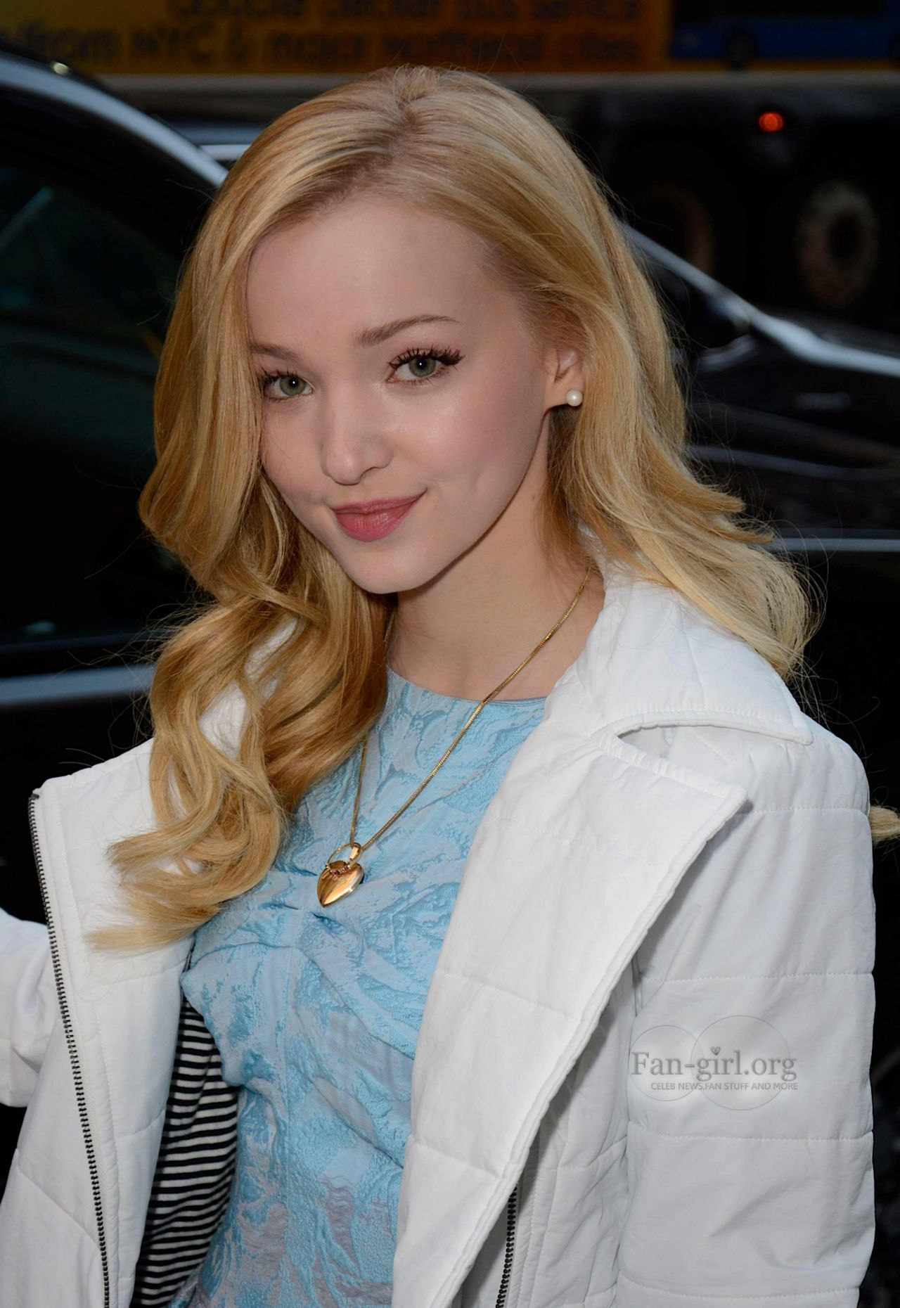 Dove Cameron Street Style - at PIX11 Morning News in New York City