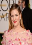 Drew Barrymore at 71st Annual Golden Globe Awards Red Carpet