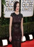 Elisabeth Moss Wears J. Mendel at 71st Annual Golden Globe Awards Red Carpet