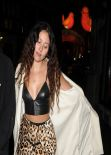 Eliza Doolittle Wears Leopard Print Skirt and Leather Crop Top - Men
