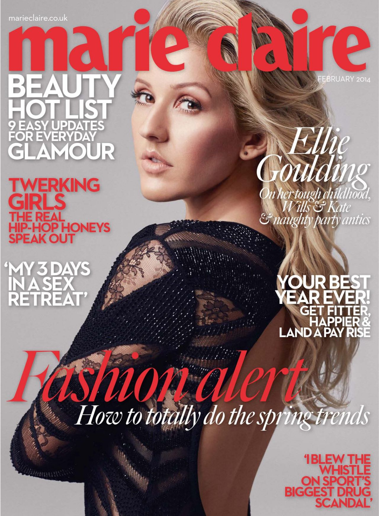 Ellie Goulding - MARIE CLAIRE Magazine (UK) - February 2014 Issue
