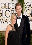 Elsa Pataky Wears Paule Ka at 71st Annual Golden Globe Awards