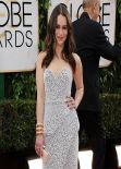 Emilia Clarke at 71st Annual Golden Globe Awards Red Carpet (2014)