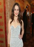 Emilia Clarke Wears Proenza Schouler at HBO 2014 Golden Globe After Party