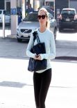 Emily Blunt Street Style - in Tights in West Hollywood - Jan. 2014