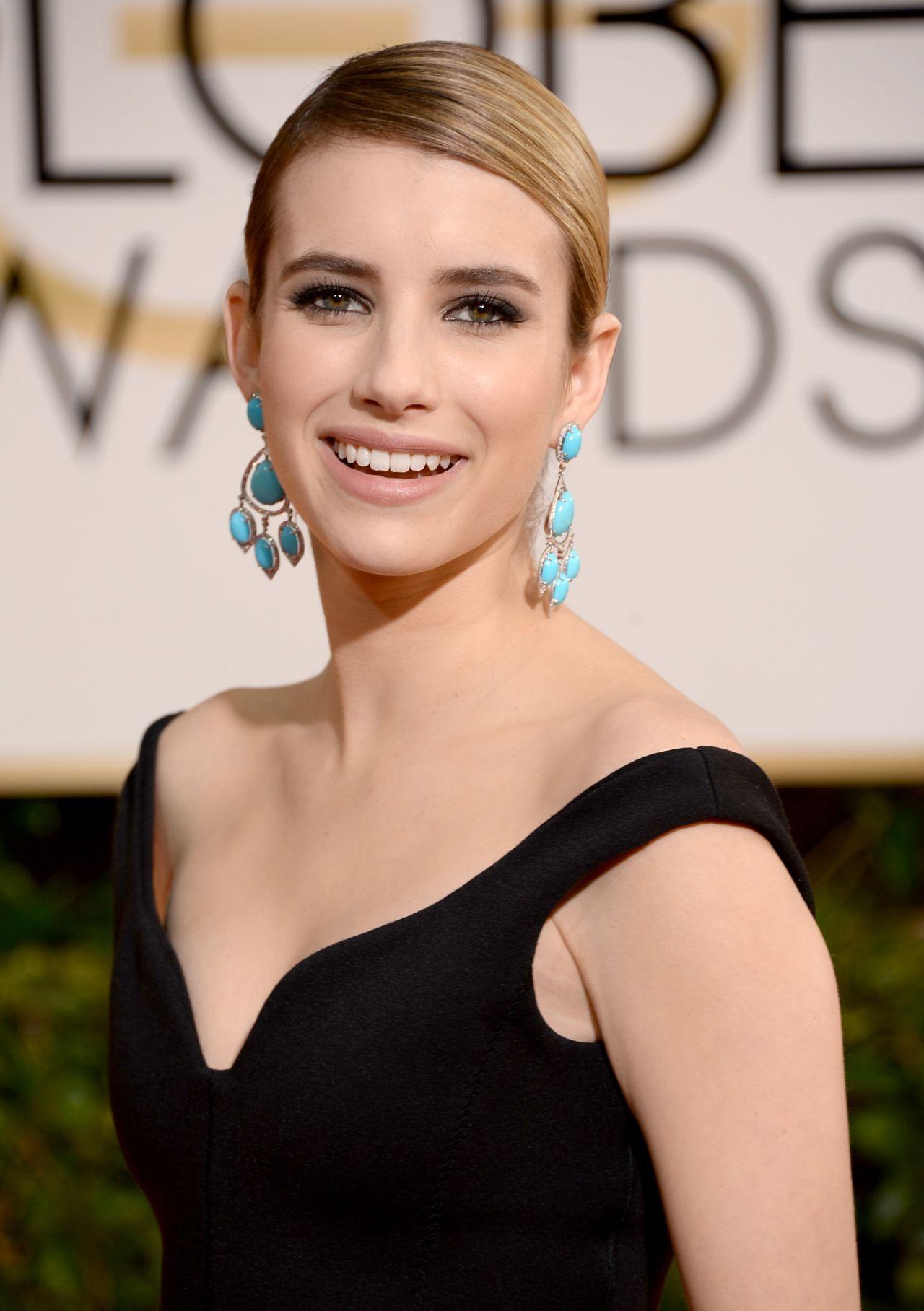 Emma Roberts - 2014 Golden Globe Awards in Beverly Hills • CelebMafia