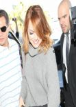 Emma Stone Street Style - LAX Airport, January 2014
