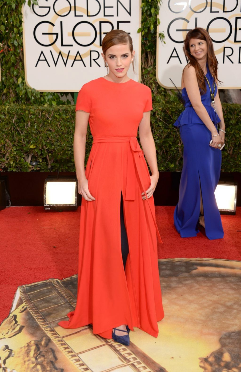 Emma Watson at 2014 Golden Globe Awards in Beverly Hills