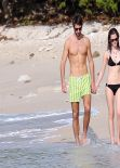 Emma Watson in Bikini With Boyfriend at a Carribean Beach - January 2014, Part II