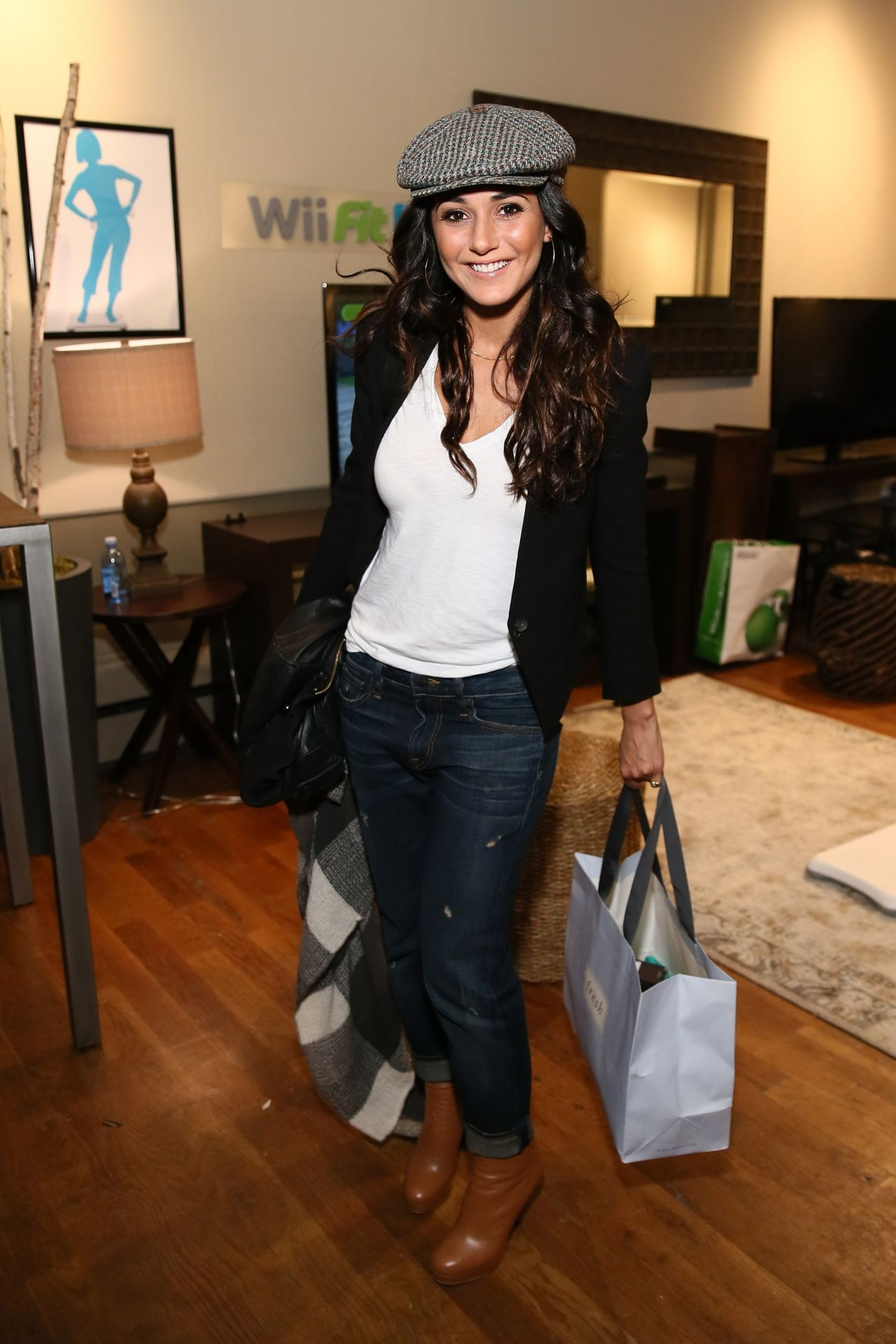 Emmanuelle Chriqui - Nintendo Chalet at the Sundance Film Festival