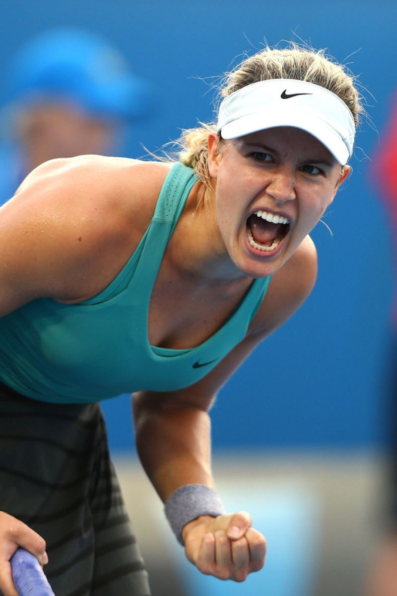 Eugenie Bouchard - Australian Open in Melbourne, January 15, 2014