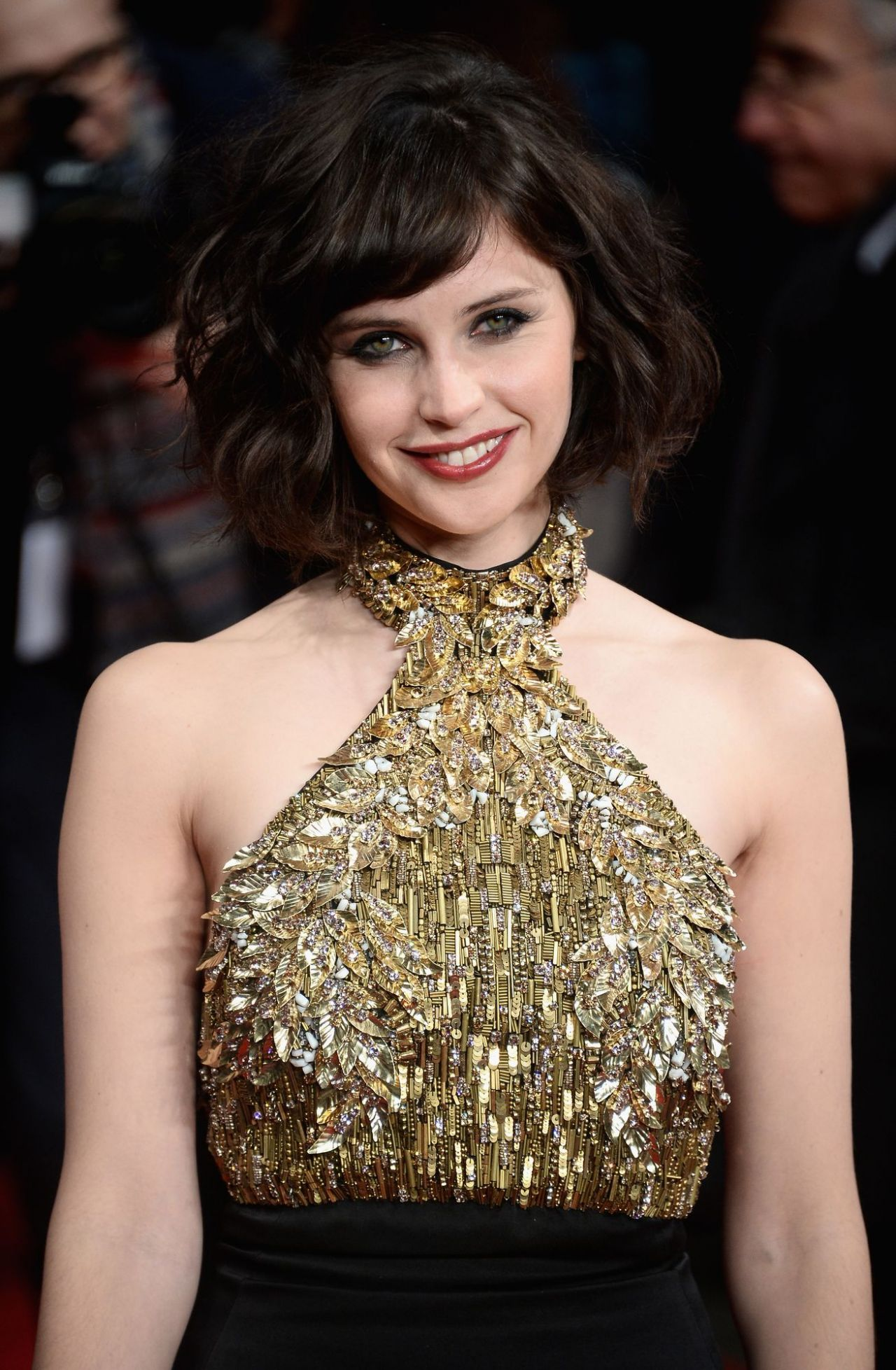 Felicity Jones - THE INVISIBLE WOMAN Premiere in London, January 2014