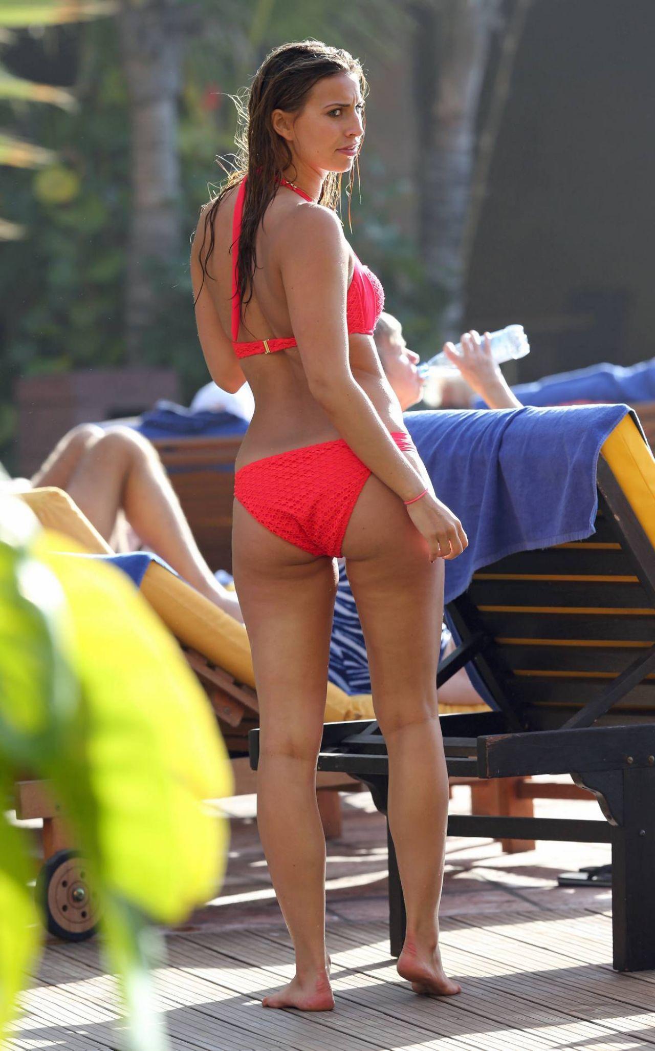 Ferne McCann Bikini Candids - at Poolside of the Hotel in Spain, January 2014