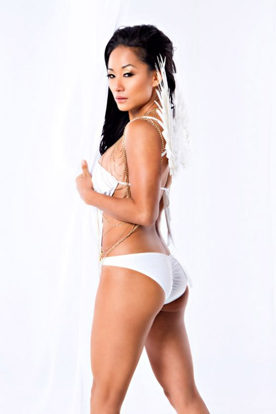 Gail Kim - Christmas Angel Photoshoot (2013)