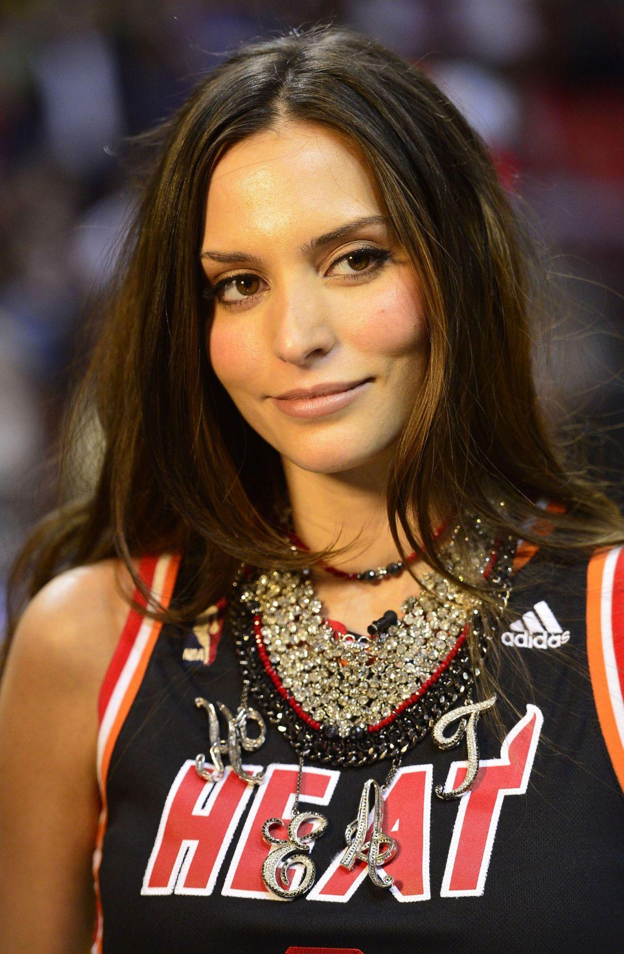 Genesis Rodriguez Thunder Vs Heat Game In Miami January