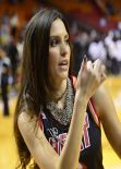 Genesis Rodriguez - Thunder vs Heat Game in Miami, January 2014