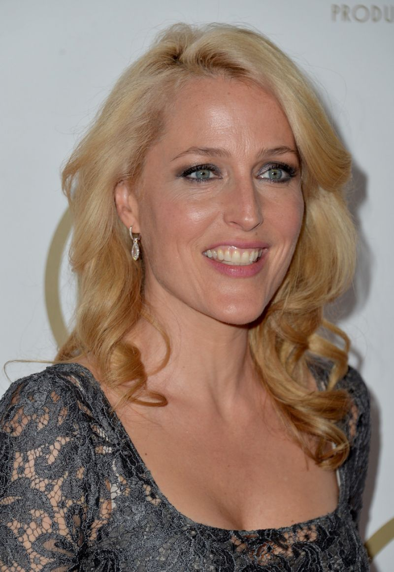 Gillian Anderson Wears Dolce & Gabbana - 2014  Producers Guild of America Awards in Beverly Hills