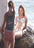 Gisele Bundchen Bikini Candids - Photoshoot for H&M in Costa Rica, January 2014