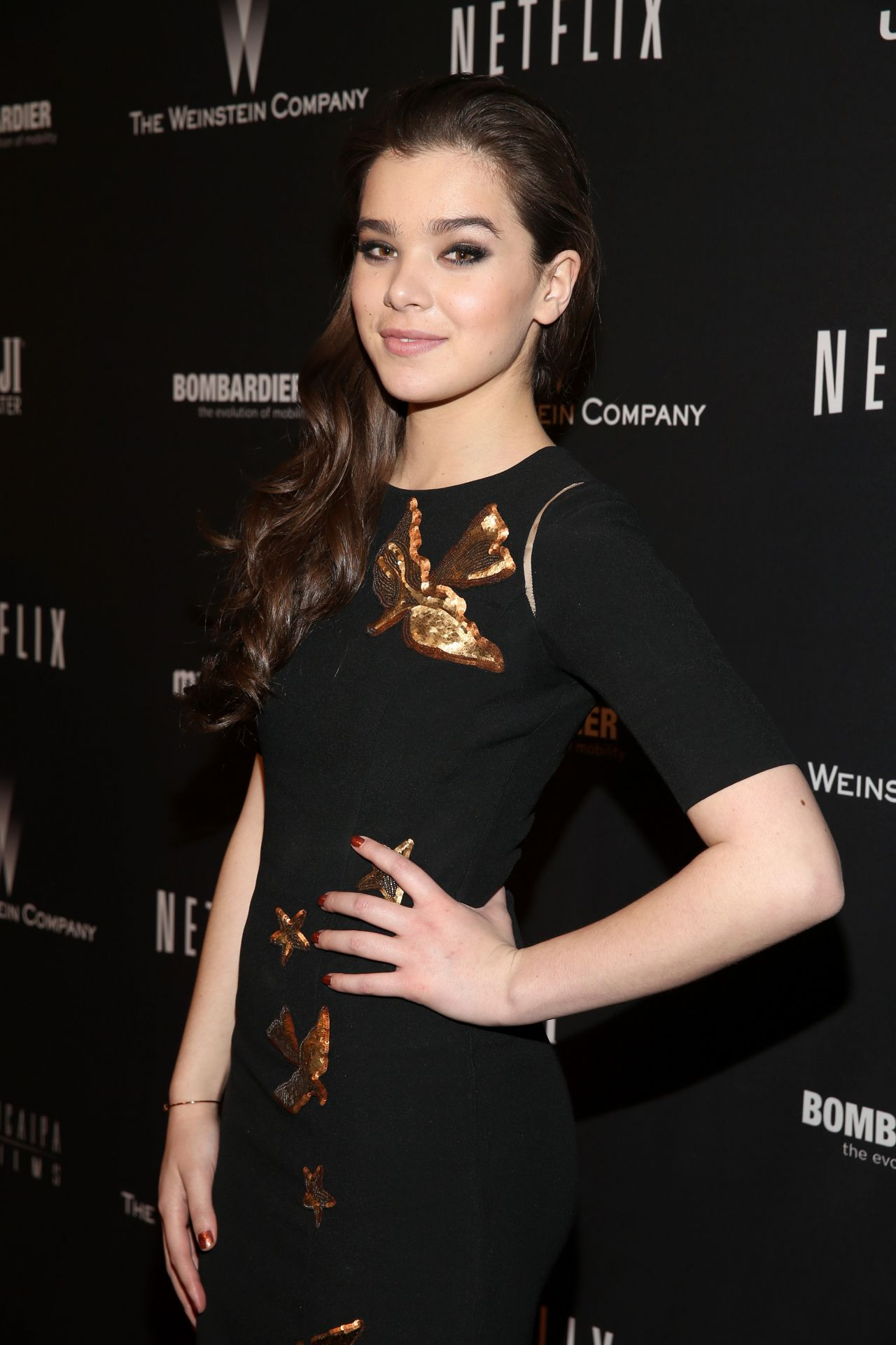 Hailee Steinfeld Wears Andrew Gn at The Weinstein Company & Netflix
