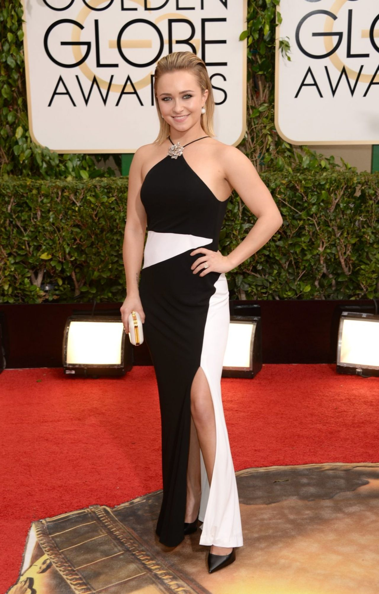 Hayden Panettiere at 71st Annual Golden Globe Awards in Beverly Hills, January 2014