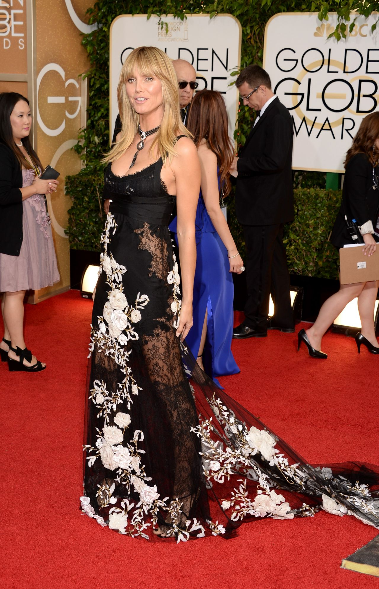 Heidi Klum - 2014 Golden Globe Awards Red Carpet Photos