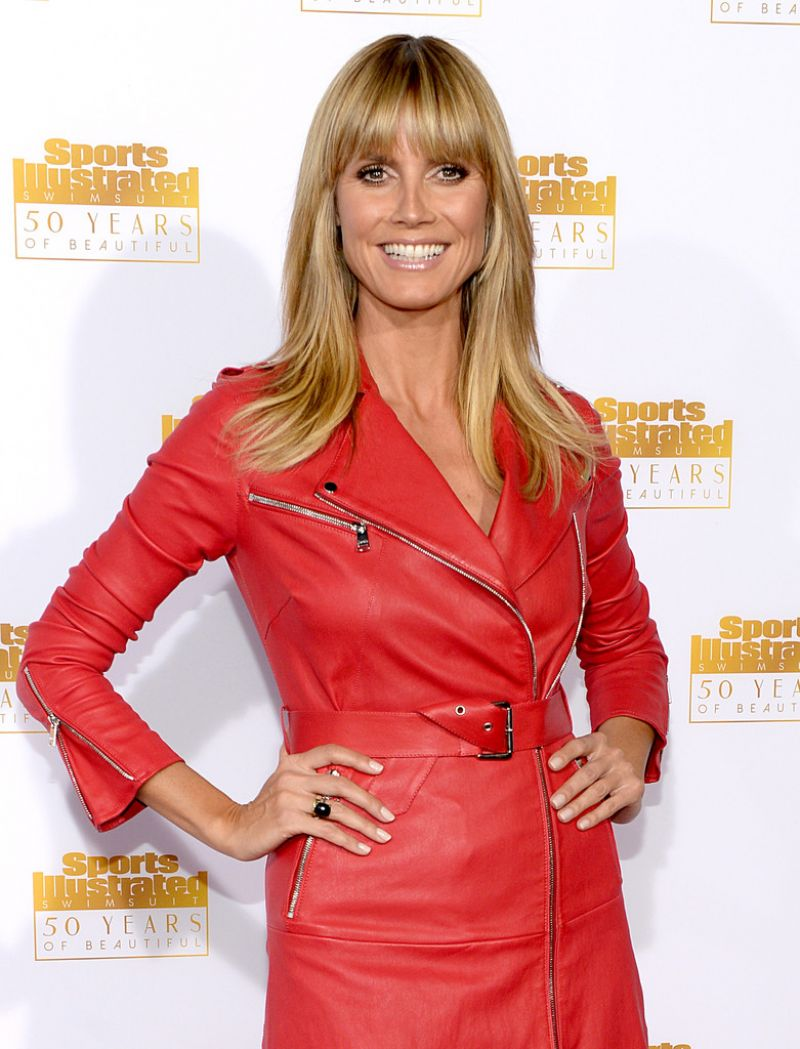 Heidi Klum Red Carpet Photos from 50th Anniversary of the SI Swimsuit Issue Celebration in Hollywood