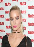 Helen Flanagan Night Out Style - Nuts 10th Anniversary, Aura Nightclub London, Jan. 2014