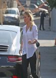 Hilary Duff Street Style -  Arrives at the Studio in Los Angeles, January 2014