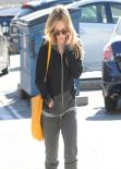 Hilary Duff Street Style - out in Tracksuit in Beverly Hills. January 2014