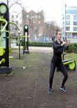 Imogen Thomas Gym Style - Outdoor Workout - January 2014