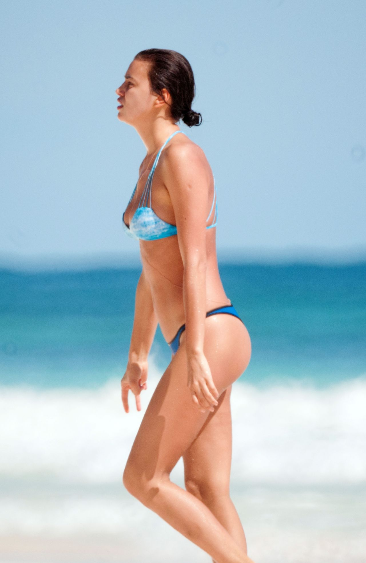 Irina Shayk Bikini Candids - Mexico, January 2014