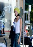 Jaime Alexander Street Style - Getting her Morning Coffee, January 2014